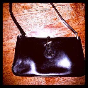 Longchamp black roseau tote
